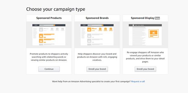 Amazon PPC ad types